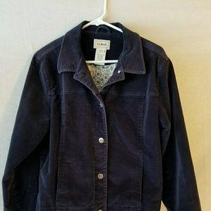 L.L.Bean woman's lined corduroy jacket